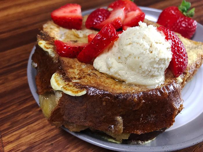 Carmel Apple Stuffed French Toast
