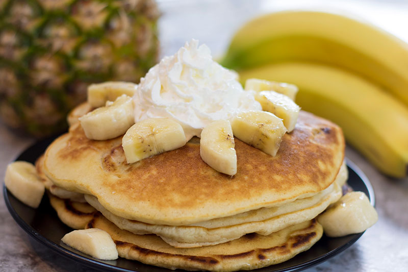 Macadamia Nut Banana Pancake Recipe
