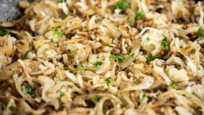 Heavenly French Onion Hash Browns