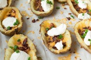 Garlic Loaded Potato Skins