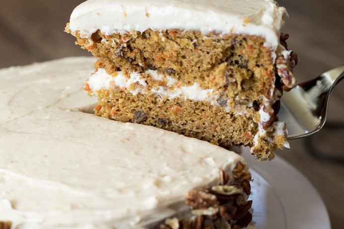 Carrot Cake with Cinnamon Cream Cheese Frosting