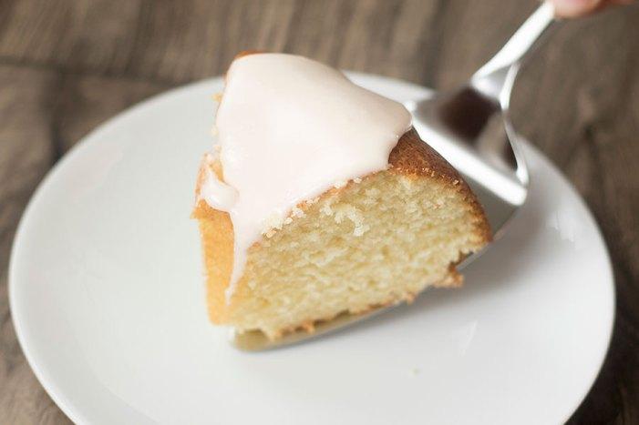 Lemon Pound Cake with Strawberry Icing