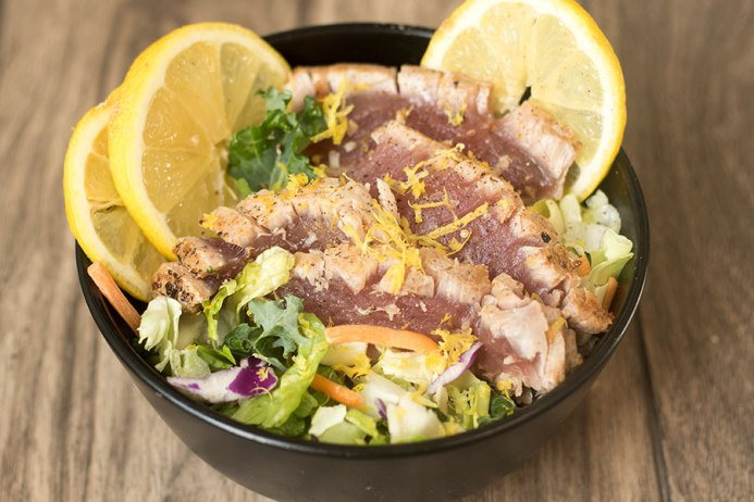 Seared Ahi Tuna Steak Salad