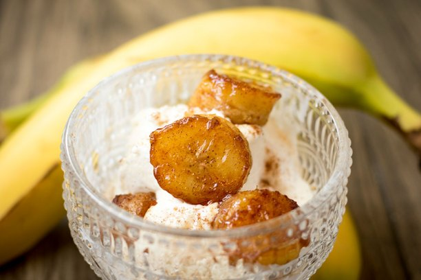 Cinnamon Caramelized Bananas
