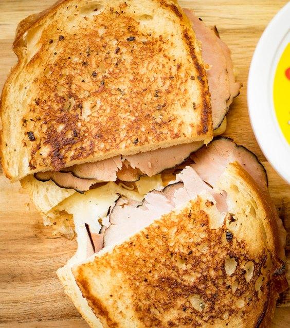 Garlic Ham and Swiss Melt