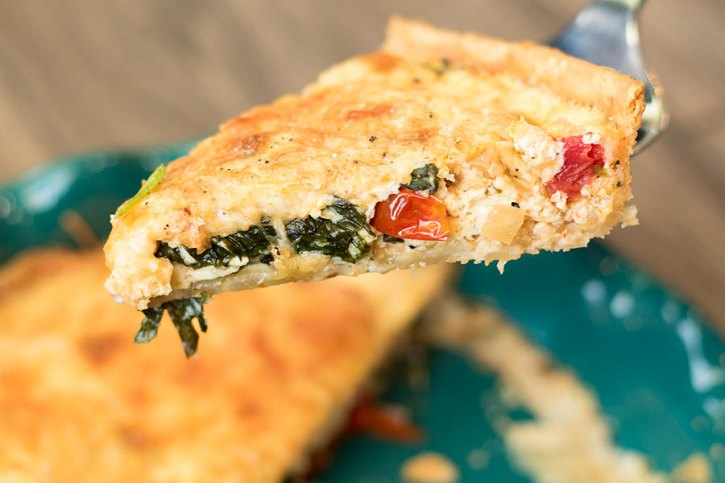 Spinach Tomato and Cheese Quiche