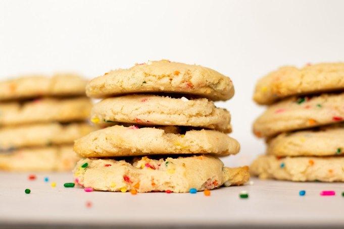 Rainbow Sprinkle Cake Mix Cookies