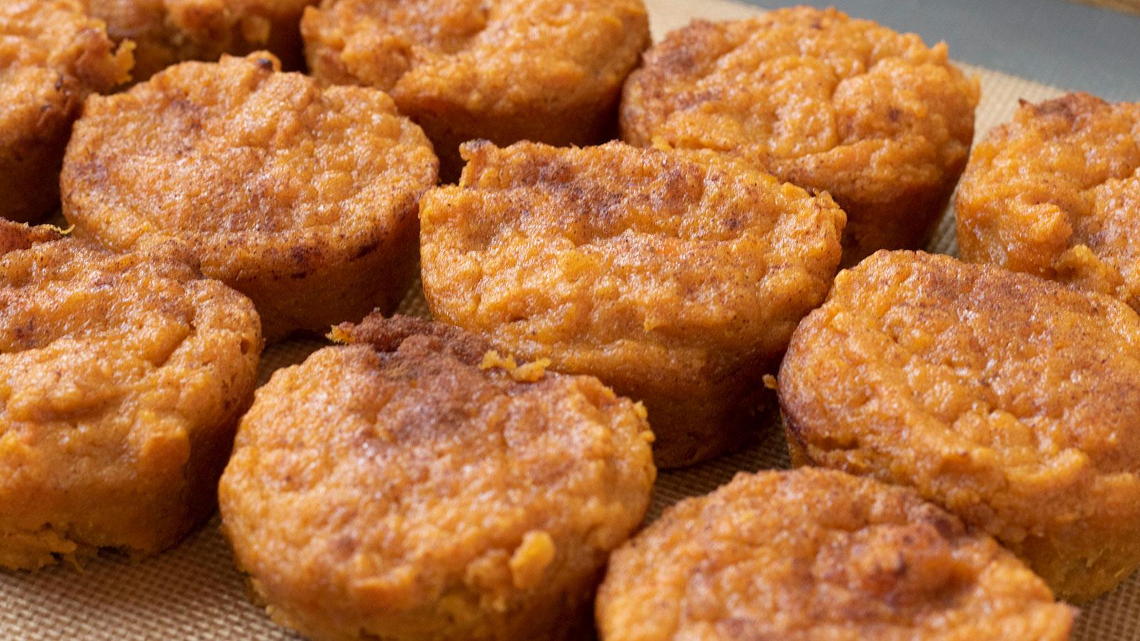 Super Cinnamon Sweet Potato Puffs