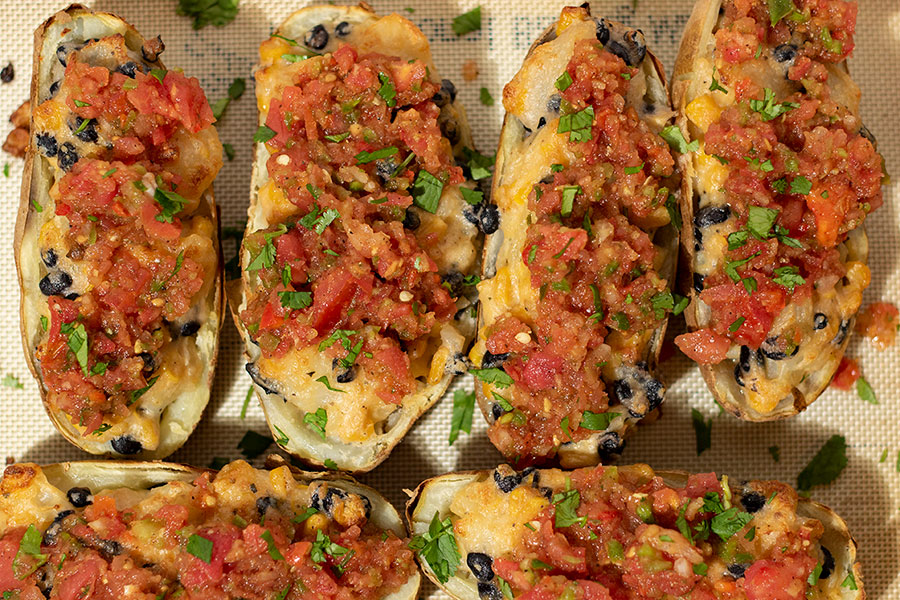 Vegetarian Mexican Stuffed Potatoes