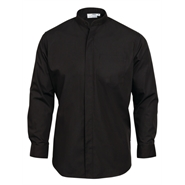 Men's Mandarin Shirt - Black