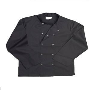 Black Chef Jacket Stud Front