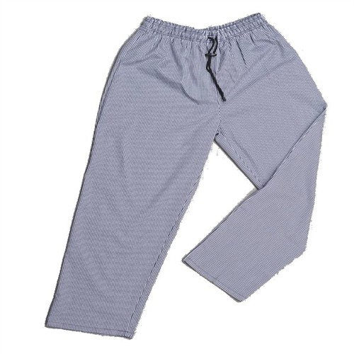 Chefs woven blue/white check trousers