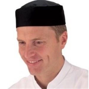 Chefs skull cap in black