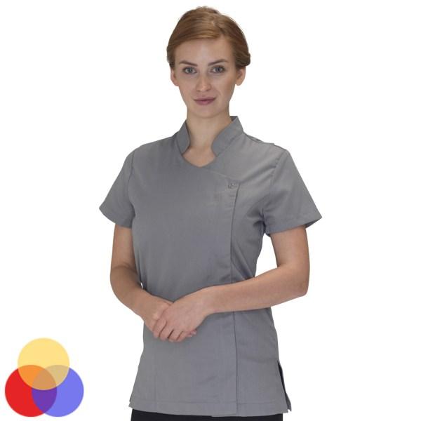 Dennys Helena Beauty Tunic With Zipped Asymmetric Design