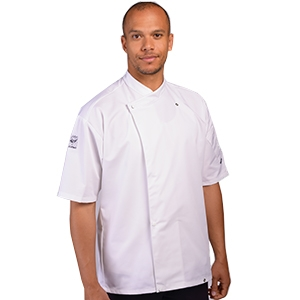 Le Chef Academy tunic with two way fastening (short sleeved)