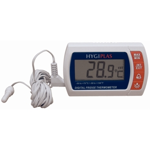 Hygiplas Digital Fridge/Freezer Thermometer