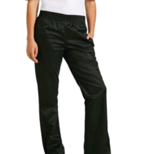 Womens Basic Baggy Chefs Trousers Black