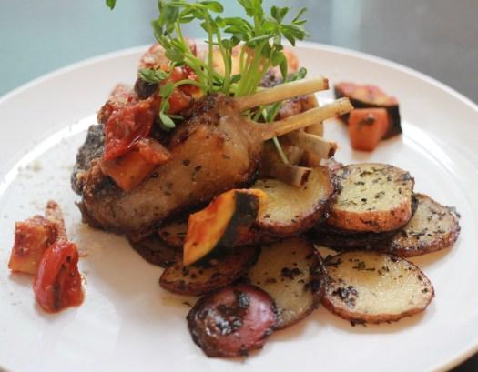 beautifully plated lamb