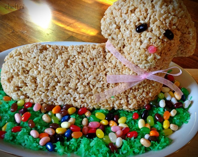 Easter Lamb Centerpiece