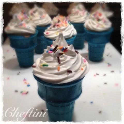 Cupcake Ice Cream Cone