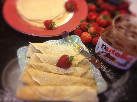 Crepes with Nutella and Strawberry