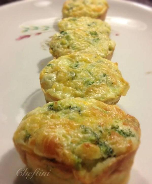 Broccoli Puff Cupcakes