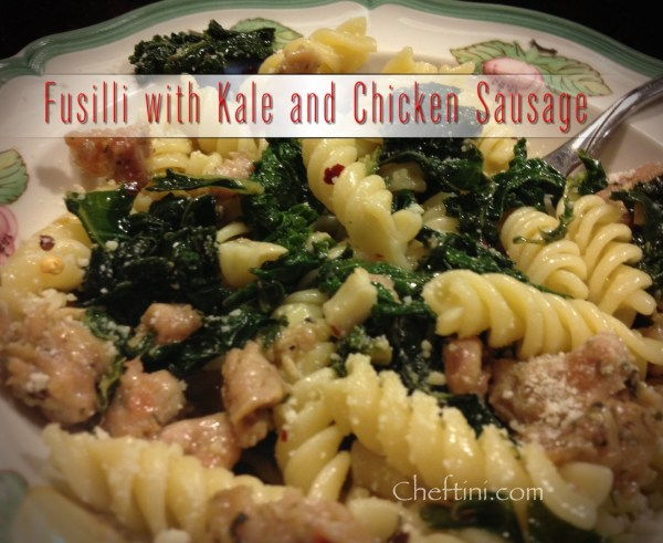 Kale and Chicken Sausage with Fusilli