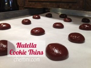 Nutella Thin Cookies