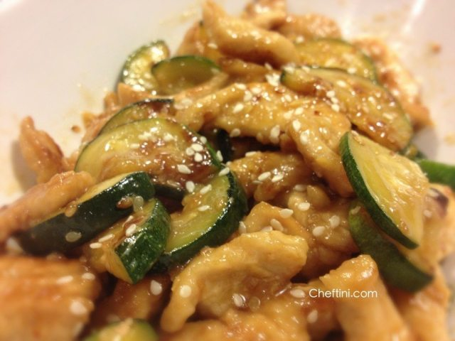 Sesame Pork and Zucchini Stir Fry