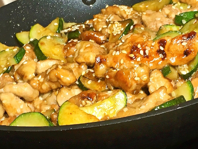 Sesame Pork and Zucchini Stir Fry