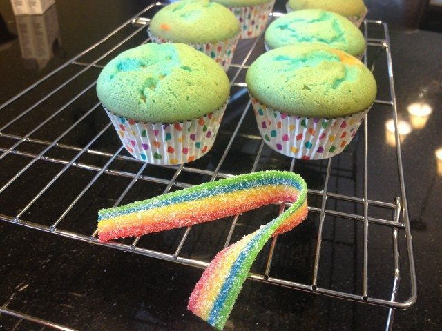 Rainbow Cupcakes with Airhead Xtremes 5