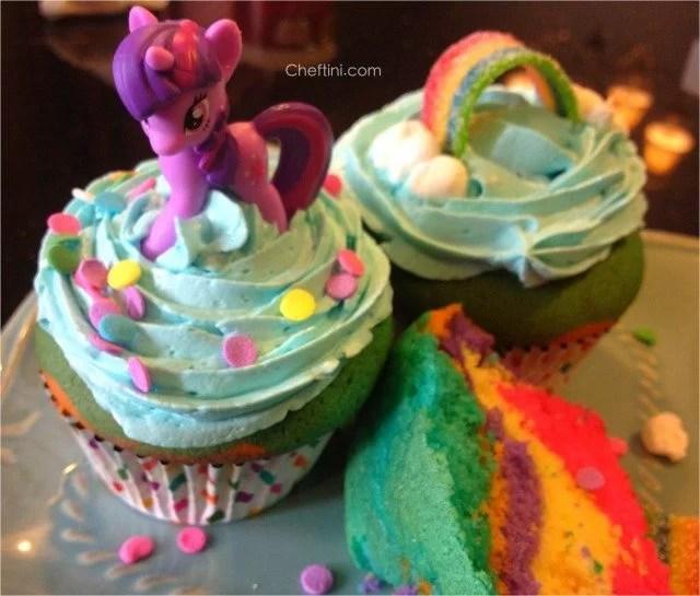 My little pony rainbow cupcakes