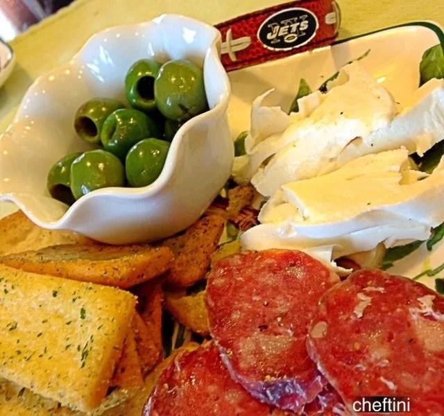 Castelvetrano Olives antipasto platter