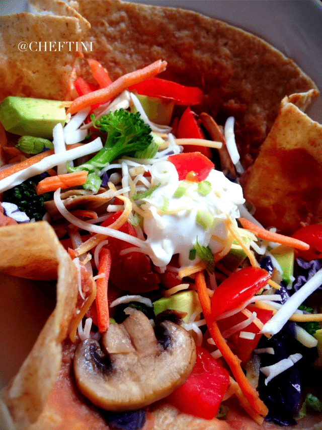 Vegetable Tostada