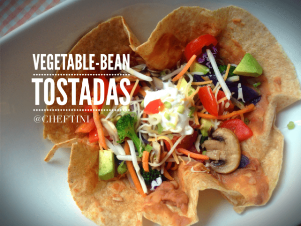 Vegetable Bean Tostadas