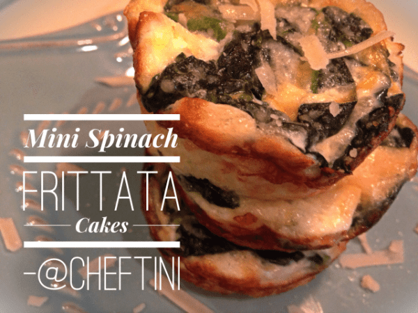 Individual Spinach Frittata Cupcakes