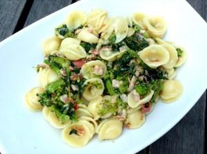 Broccoli di rabe and Italian Bacon with Orecchiette