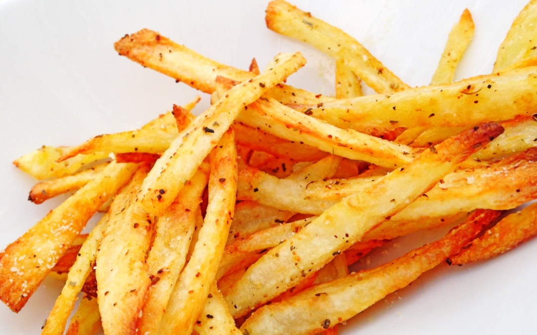 Oven Roasted Garlic Parmesan Fries