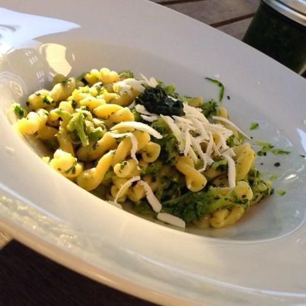 Gemelli Pasta with Zucchini in Italian Green Sauce