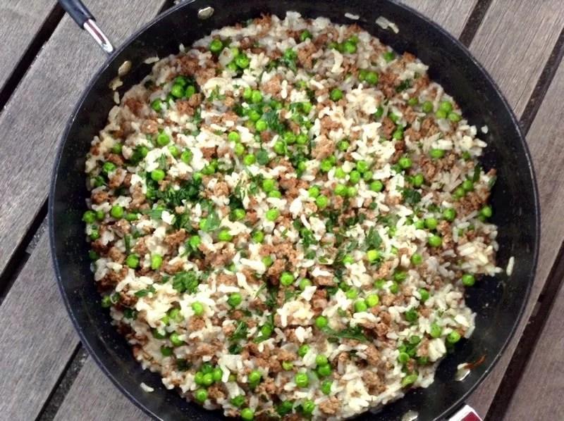 Risi e bisi (Italian rice and peas)