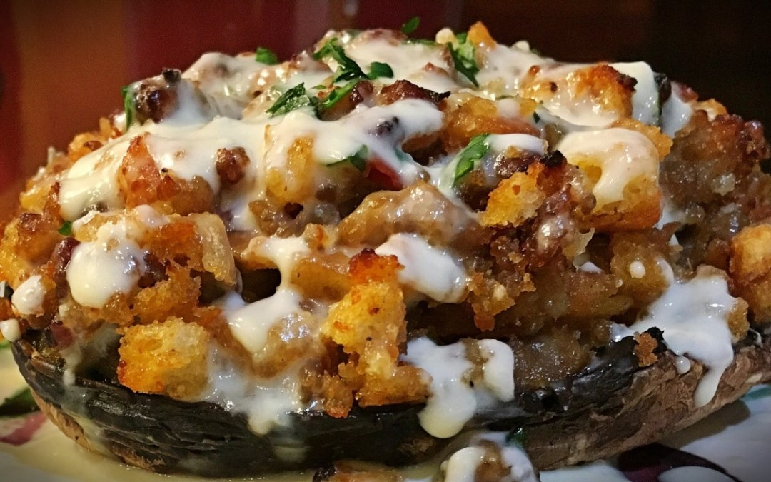 Stuffed Portobello Mushrooms with Sartori Cheese