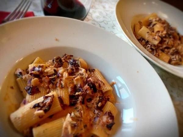 Creamy Rigatoni Radicchio