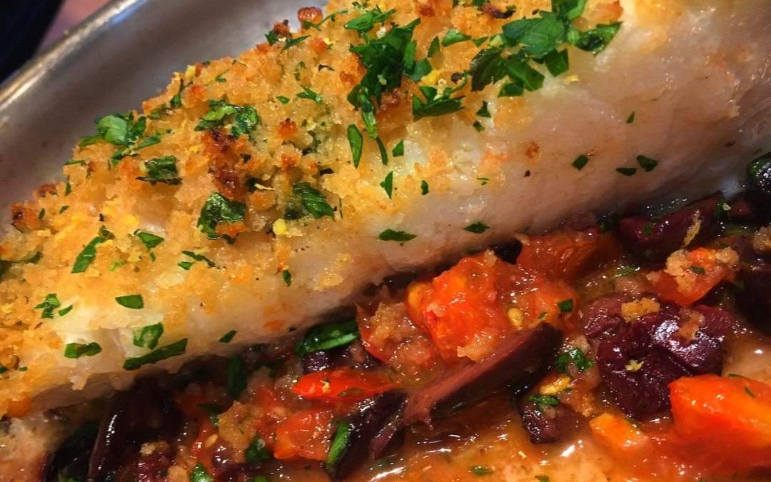 Pan Roasted Chilean Sea Bass Gremolata