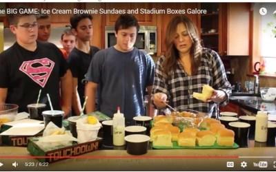 The BIG GAME: Ice Cream Brownie Sundaes and Stadium Boxes Galore