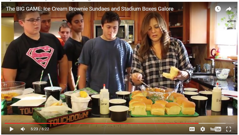 The BIG GAME: Ice Cream Brownie Sundaes and Stadium Boxes Galore