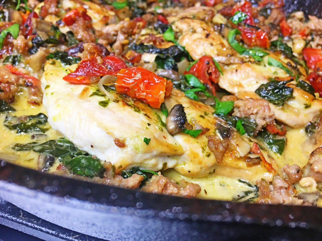 Sun Dried Tomato Spinach Skillet Chicken