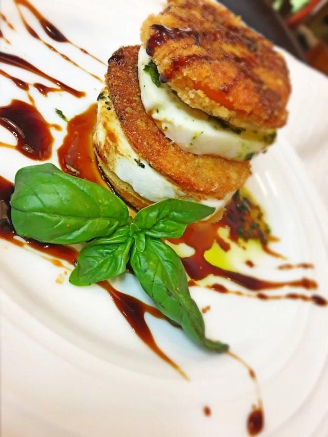 Fried Tomato Caprese