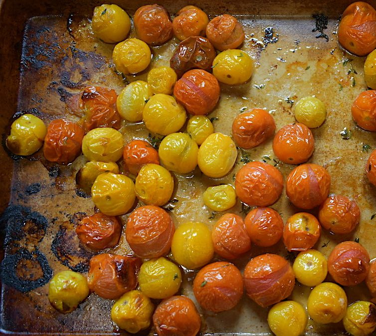 Oven Roasted Mini Heirlooms