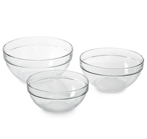Pampered Chef Glass Mixing Bowls