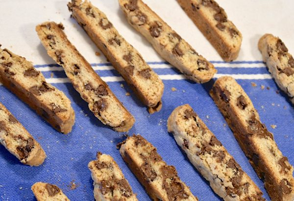 Biscotti with Chocolate Chips